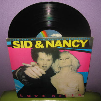 Rare Vinyl Record Sid & Nancy Orignal Soundtrack LP 1986 Punk Rock Joe Strummer John Cale Pogues