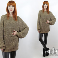 Vintage 90s Brown Oversized Sweater S M L Oversized Knit Overszied Jumper Brown Sweater Brown Jumper 90s Sweater 90s Pullover 90s Jumper