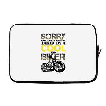 Sorry This Girl Is Already Takenby a Cool And Biker Laptop sleeve