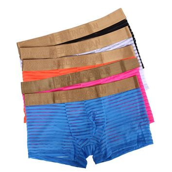 Soft Cotton Simple Men's Boxer Briefs Underwear