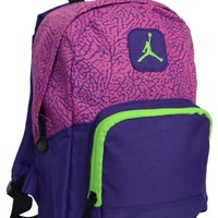 Nike Air Jordan Backpack Pink Purple Green Toddler Preschool Girl Small Mini Bag
