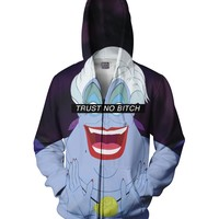 Trust No Bitch Ursula Zip-Up Hoodie