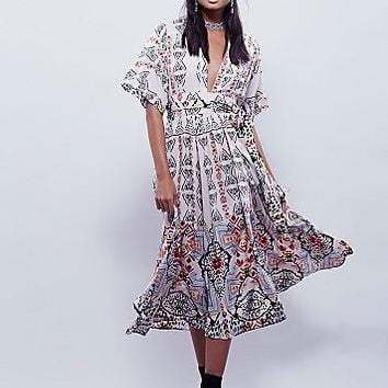 Free People Womens Wild Mountain Kimono Dress