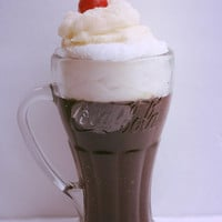 Vanilla Cola Float Old Fashioned Ice Cream Soda Candle 16oz - Realistic Parlor Float Candle
