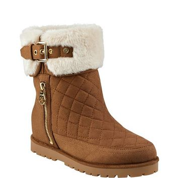 Febe Fur-Lined Bootie at Guess