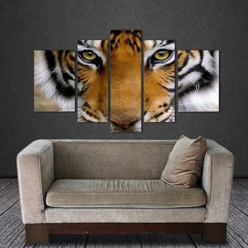 5 Canvas Tiger Canvas Wall Art Painting Decor For Living Room Bedroom Home Decorations