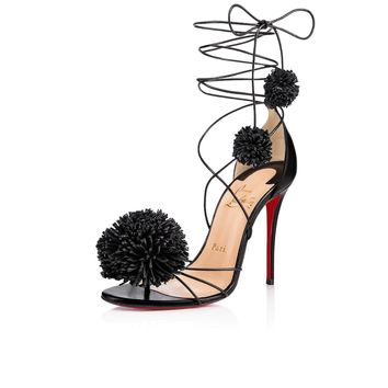 Starouchi 100 Black Leather - Women Shoes - Christian Louboutin
