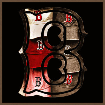 Boston Red Sox, Red Sox Art, Red Sox Logo, Red Sox Prints, Boston Gifts, Red Sox Gifts, Sports Logo, Man Cave, B, Boston Sports Prints