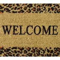 Iron Gate - Welcome Cheetah - Printed Coco Doormat - Heavy Duty Outdoor Premium Coir Mat - 1/2 Inches Thick - Extremely durable - Traps dust - Welcome your guests with this high quality doormat