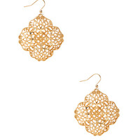 Fancy Filigree Drop Earrings