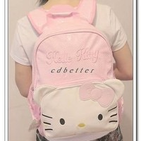 Hello Kitty Little Pink Shoulder Bags School Bags Backpack Large Bags