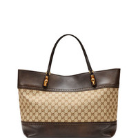 Gucci Laidback Crafty Original GG Canvas Tote Bag, Brown