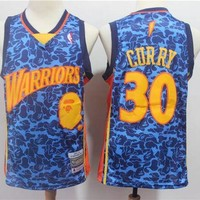 Bape x 30 Stephen Curry Mitchell & Ness Red Hardwood Classics Jerseys