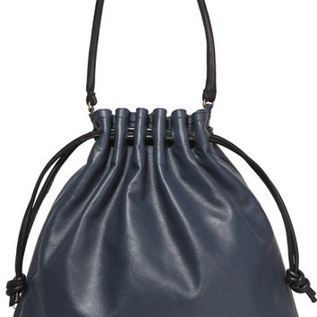 Clare V - Grand Henri Maison textured-leather shoulder bag
