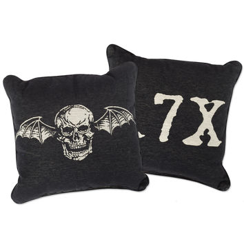 Avenged Sevenfold Deathbat Woven Pillow