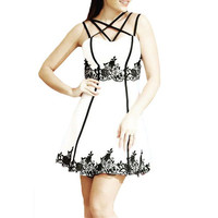 Strap Lace Mini Dress