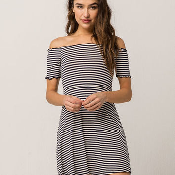 SOCIALITE Marrow Ribbed Stripe Dress