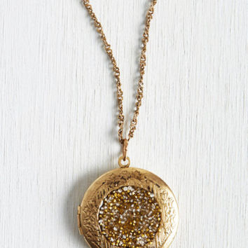 Vintage Inspired Locket Full of Sunshine Necklace by ModCloth