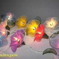 MIXED COLOUR FLOWER STRING FLORAL,PATIO,FAIRY,DECOR,CHRISTMAS,WEDDING LIGHTS