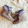 Caribou Moccasins in Taupe