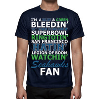 Seattle Seahawks Shirt - 12th Man - Hawk Nation - Superbowl - Seattle Seahawks TShirt - Funny Seahawks