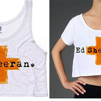 Ed Sheeran Cross Cropped Tank/Cropped Short Sleeve Shirt