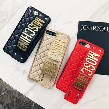Moschino Tide brand letter wristband iPhoneX phone case