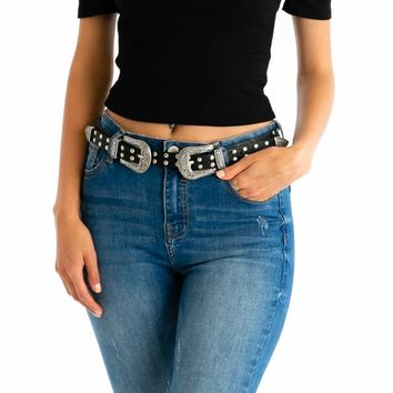Stud Farm Belt in Black