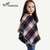 VIANOSI Fashion Children Shawl Poncho Girl Winter Warm Scarves kids Scarf CH011