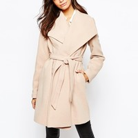 New Look Belted Wrap Coat at asos.com