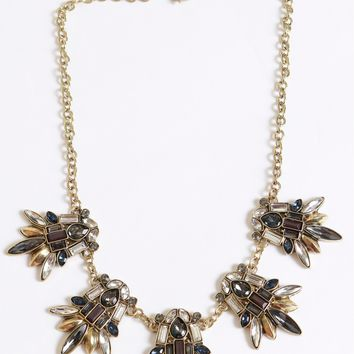 Chandelier Beaded Necklace Gold