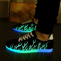 Sports Noctilucent Couple Lightning Casual Shoes [8348189121]