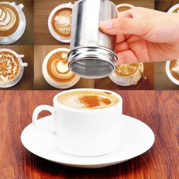 Stainless Steel Chocolate Shaker Cocoa Flour Icing Sugar Powder Coffee Sifter Lid Shaker Coffee Kitchen Cooking Tools