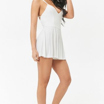 Caged-Back Romper