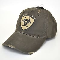 Ariat Embroidered Shield Logo Brown Cap