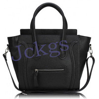 High quality Designer Leather Celebrity Tote Bag Smile Shoulder Satchel Handbag
