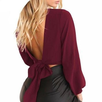 Angelina Bow tie top