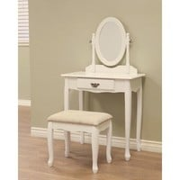 Frenchi Home Furnishing 3-Piece Vanity Set, White