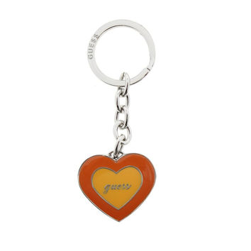 Guess Womens Chennai Heart Shaped Locket Photo Keychain
