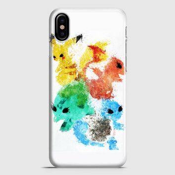 Pikachu Painting Pokemon iPhone X Case