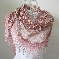 Lace Hollow Hook Floral Women Long Scarf Wrap Ladies Shawl Girls Large Silk Scarves = 1958101636