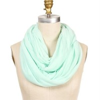 Mint Knit Infinity Basic Scarf