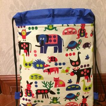 zoo animal Elephant, frog, turtle, hedgehog, owl, ladybug, dog, cat, kangaroo, reindeer, bee school toy bag backpack for kids