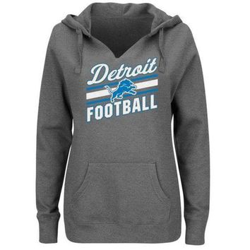 DCCKG8Q NFL Detroit Lions Women's Plus Size Highlight Play Hoodie