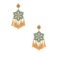 Mercedes Salazar Tropics Earring in Blush