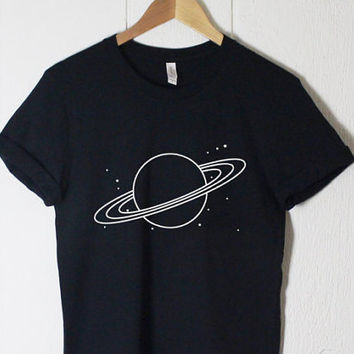 Planet Shirt - Tumblr Shirt - Summer Shirt - Graphic Shirt - Space Shirt Universe Galaxy Stars - Planets Solary System - Celestial - Gifts