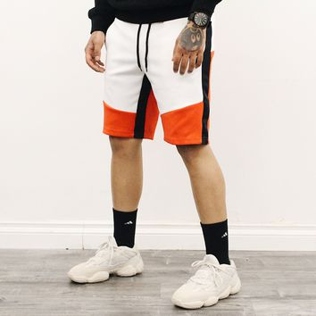 Ken Multi Color Shorts (White/Red)