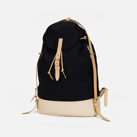 Vintage Men Casual Canvas Leather Backpack (L07)