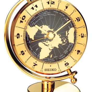 Seiko World Time Globe Desk Clock