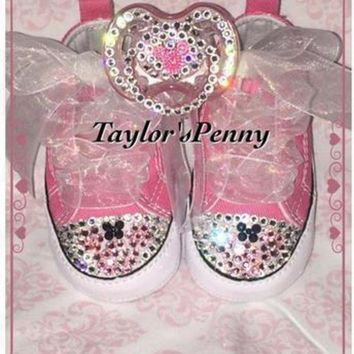 50cbfbb19967 CREYON baby first star bling converse minnie mouse
